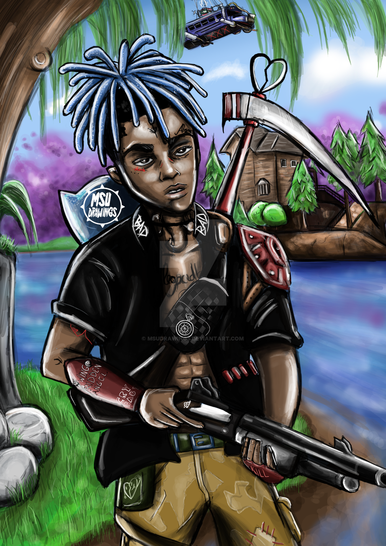 fortnite xxxtentacion by msudrawings by msudrawings - fortnite deviantart