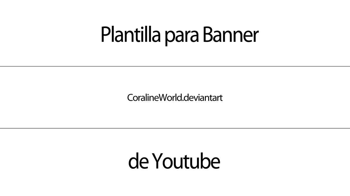 Plantilla para banner de Youtube by GhostxMadnessGirl on DeviantArt