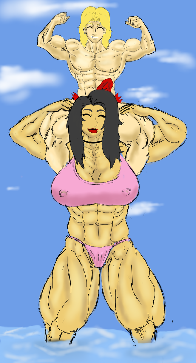 Toric vs Lesbian Muscle Babe Lisa by ToricTheAmazonRider