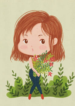 Anna and her flowers ~