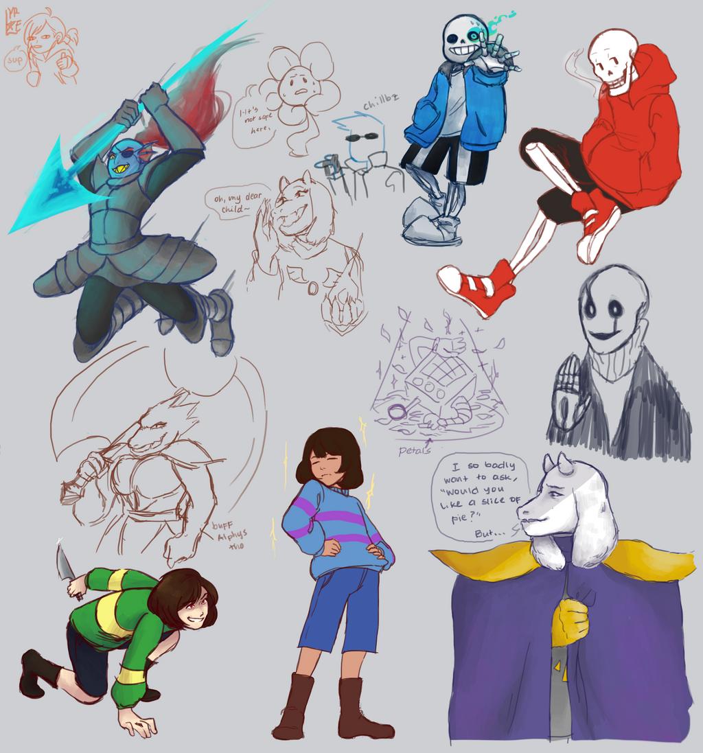Undertale Sketch Dump 1 by AbsoluteDream on DeviantArt