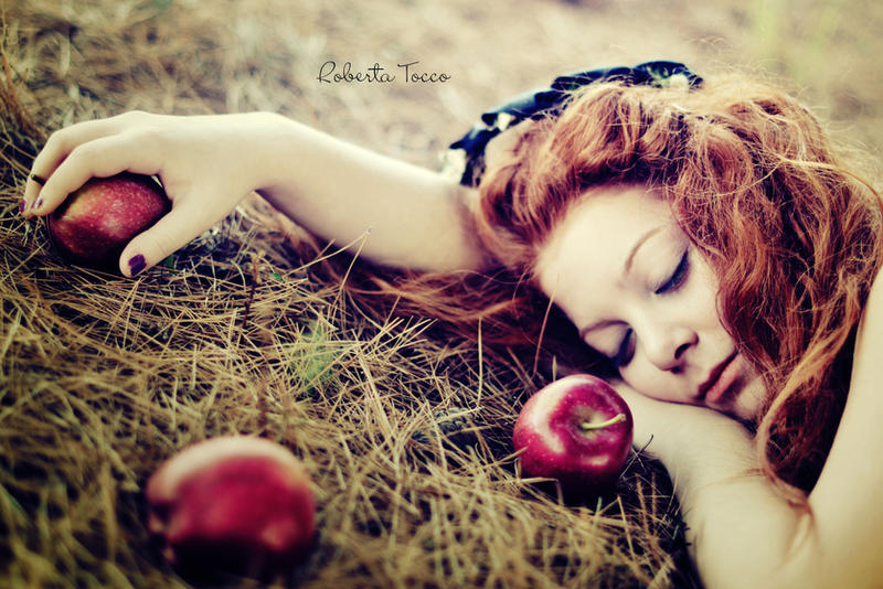 Snow white with red hair