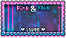 pink and blue stamp by dead80s