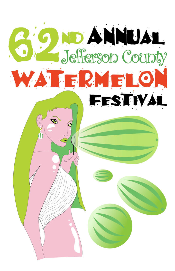 Watermelon Festival Woman by dippydude