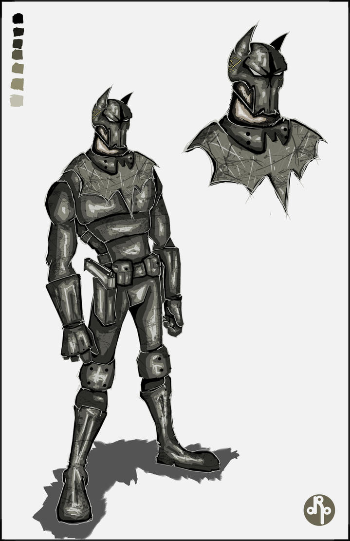 Government Issue Batman by dippydude