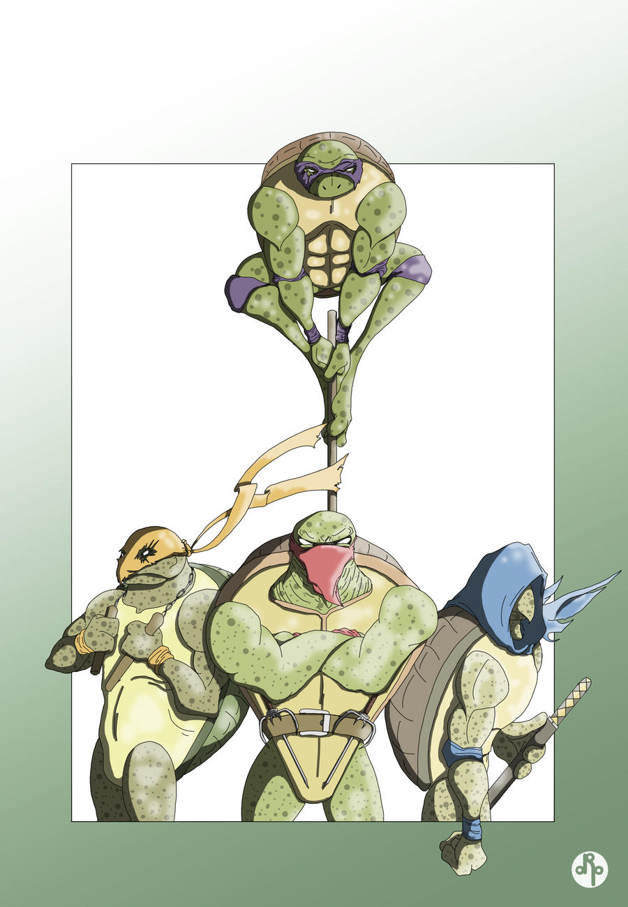 Turtle Power colors by dippydude
