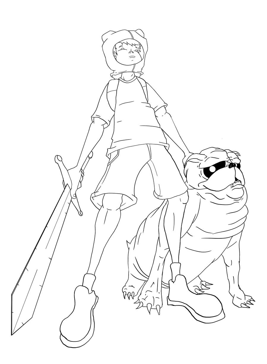 A Boy and His MAGIC Dog lines by dippydude