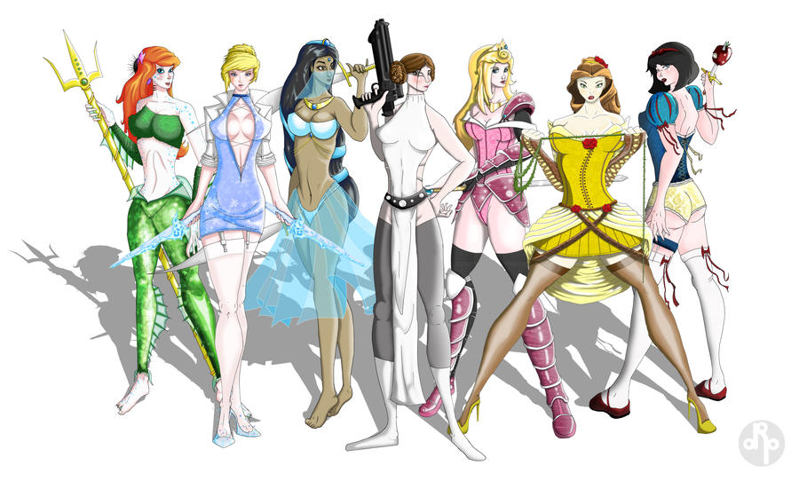 Heoic Heroines Line-up by dippydude