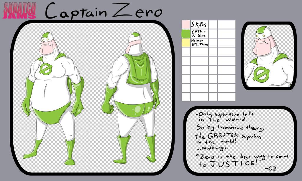 Captain Zero Character Sheet by dippydude