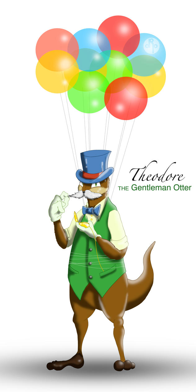 Theodore the Gentleman Otter by dippydude