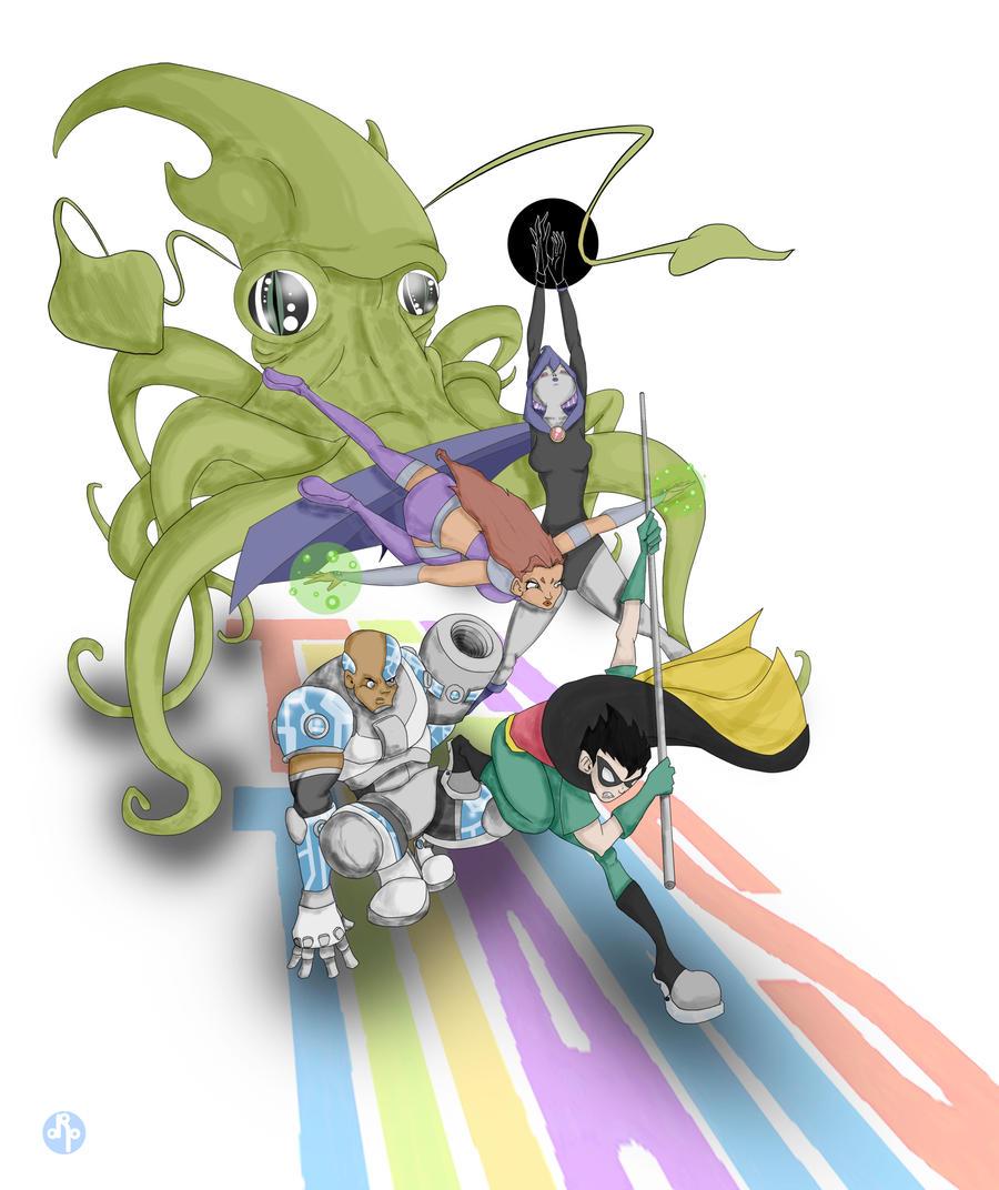 Teen Titans A-Go-Go by dippydude