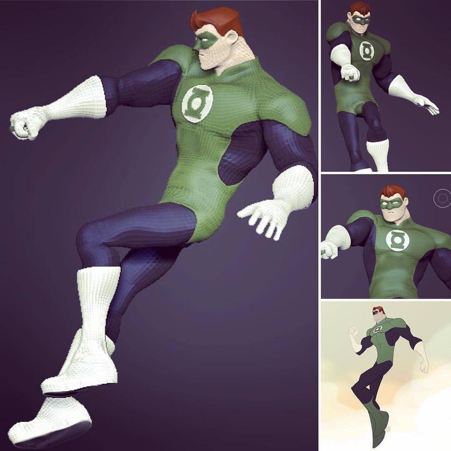 Green Lantern (Sean 'Cheeks' Galloway Design) by dippydude