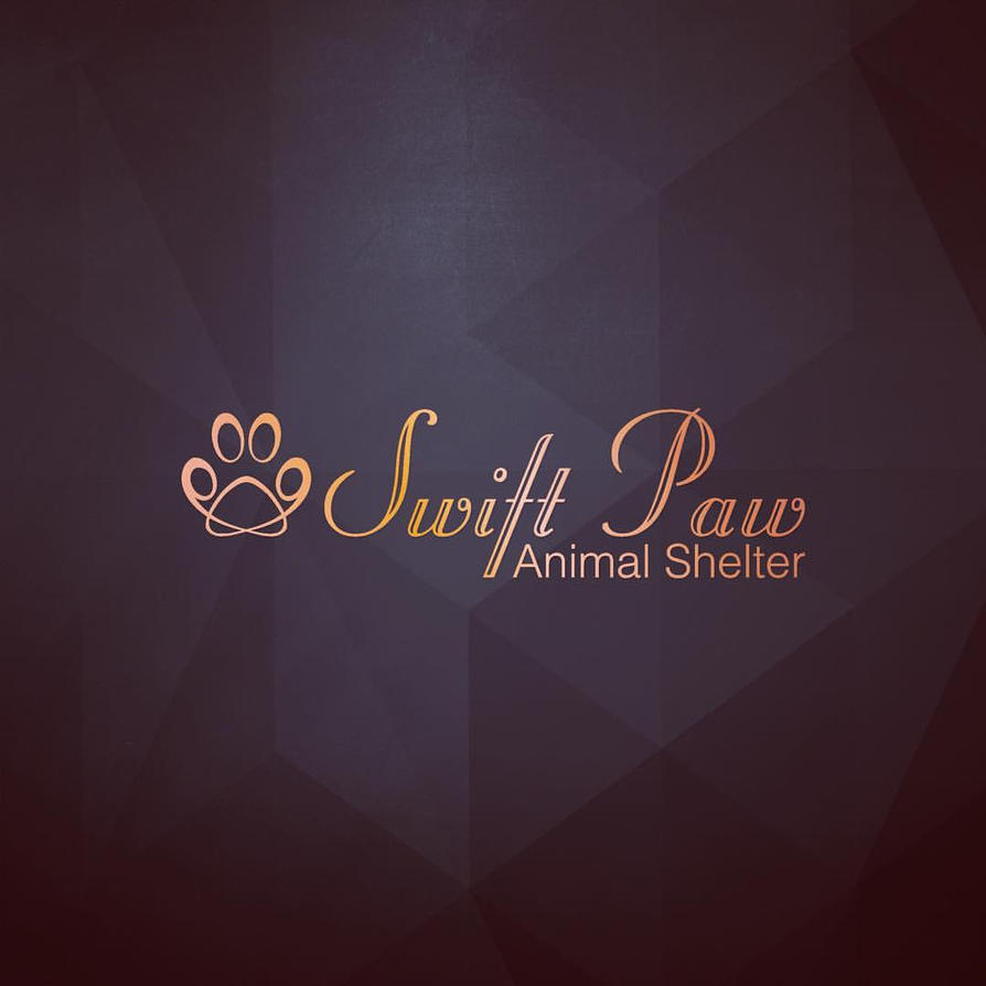Swift Paw Animal Shelter Logo by dippydude