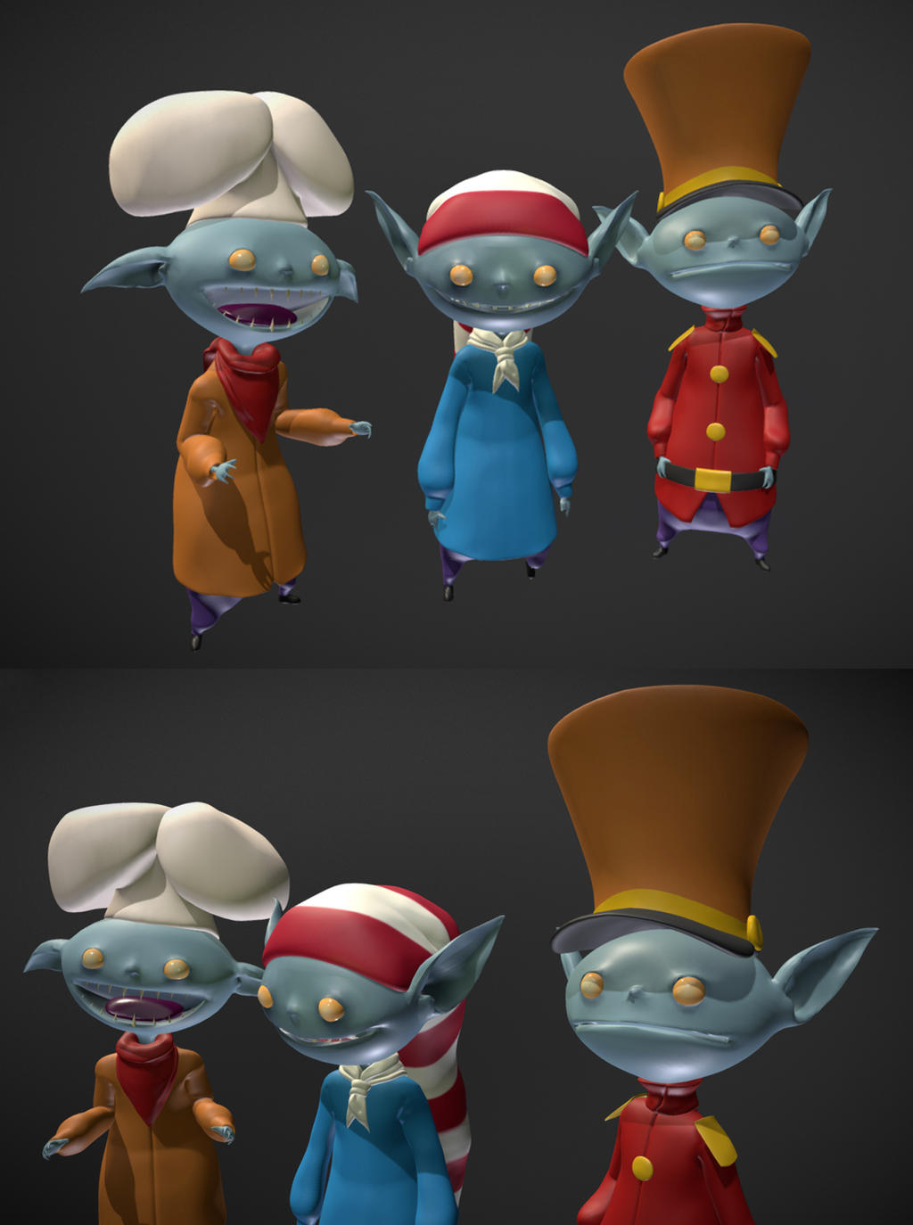 Snap Crackle and Pop 3D Model by dippydude