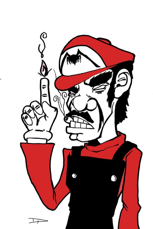 Symbiote Mario by dippydude