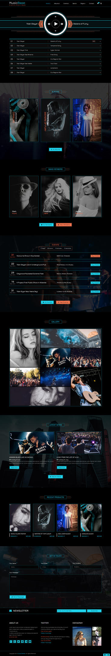MusicBase (Electro Skin) - HTML Template by future-themes