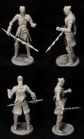 Ash seeketh embers- resin cast copy2 by GeekUndead
