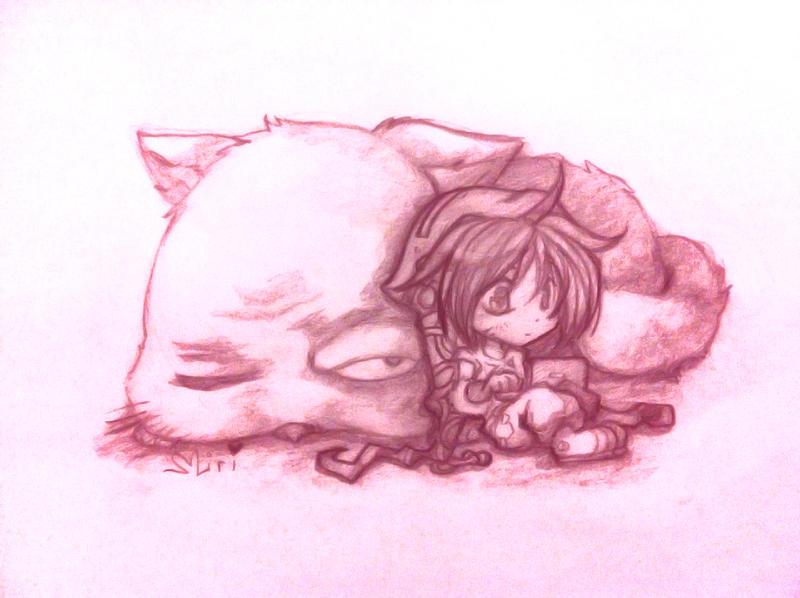 Boy+Cat by Miriamele
