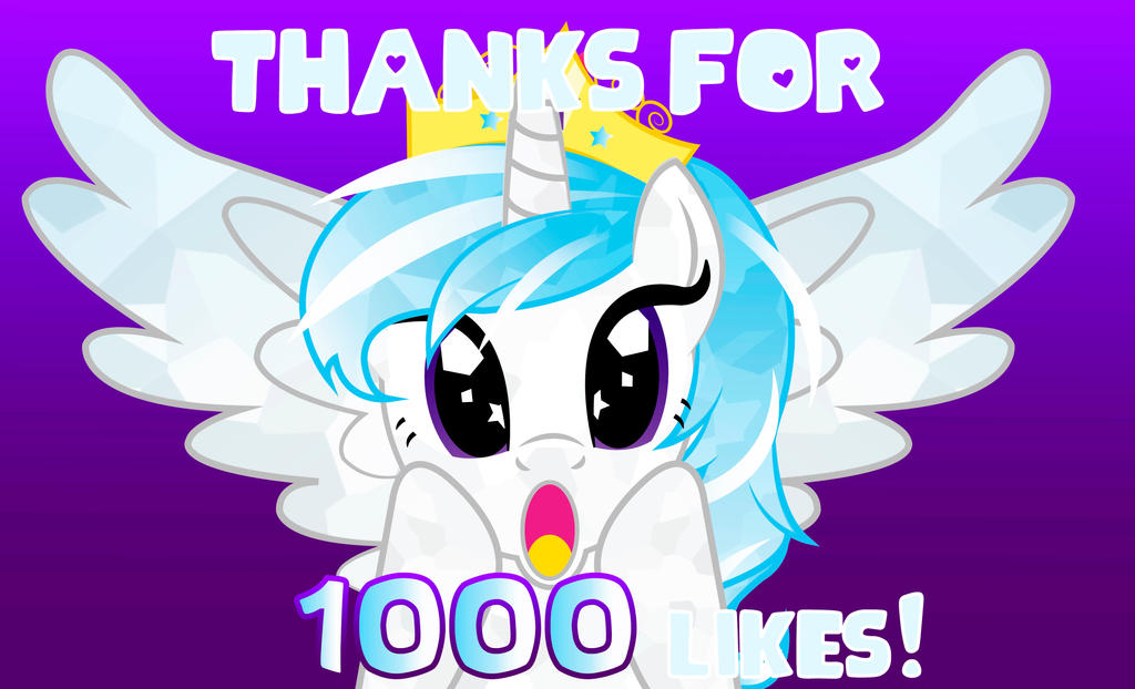 Thanks for 1000 likes by AlicornCrystal