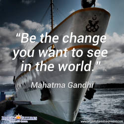 Be the change you want to see in the world recover