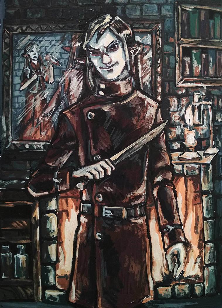 Margel with knife by Otschkarikus