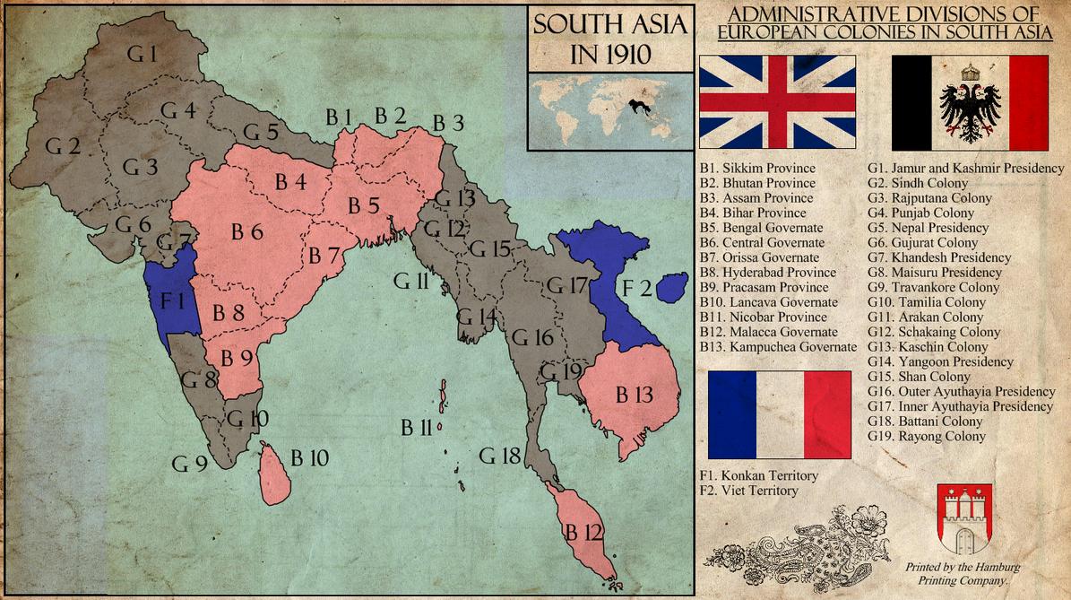 TL-181 South Asia in 1910 by Kurarun