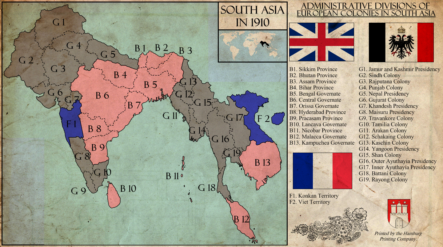 TL-181 South Asia in 1910 by Kurarun