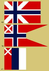 Alternate Norwegian Flags by Kurarun