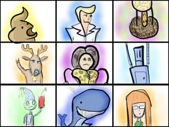 some cartoon portraits by XpeHiK