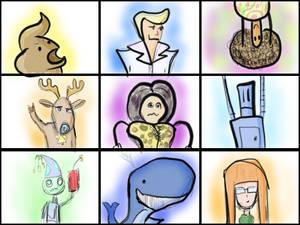 some cartoon portraits