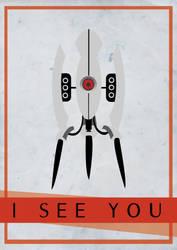 portal 2 turret poster by XpeHiK