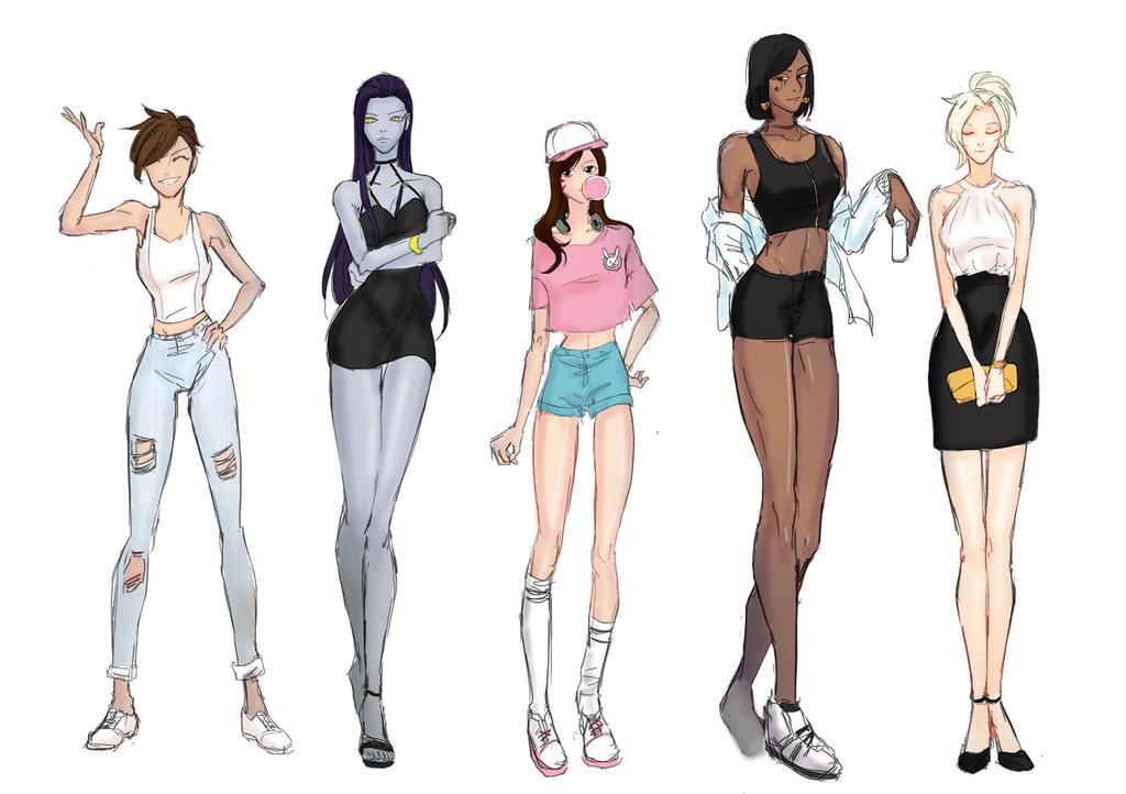 overwatch plain clothes for girls by javachocochip on deviantart