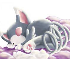 glameow sleeping by tifov