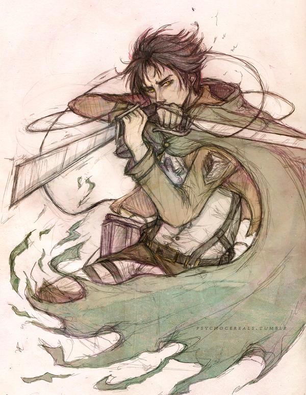 Shingeki no Kyojin - Levi by Psychocereals
