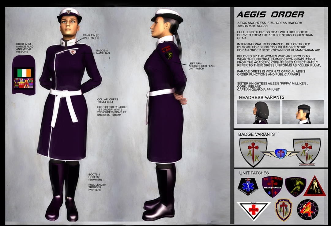 Knightess of The Aegis Order   Full Dress Uniform by yankee30