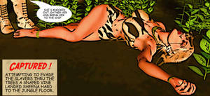 Sheena of The Jungle  Golden Age Comic Style