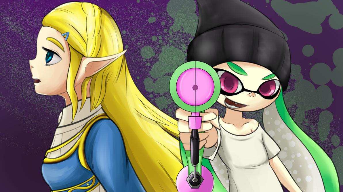 Personal Switch Highlights - Zelda BotW and Splat2 by ZionWorldArtist
