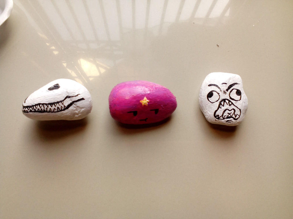 Painted Rocks by Shannenthefox