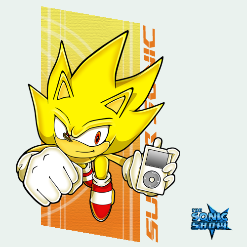 Teste Chunnin de TK-妖怪   The_Sonic_Show__Super_Sonic_by_Professor_J