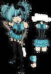 Punk Rollerskater Girl Adopt - [CLOSED]