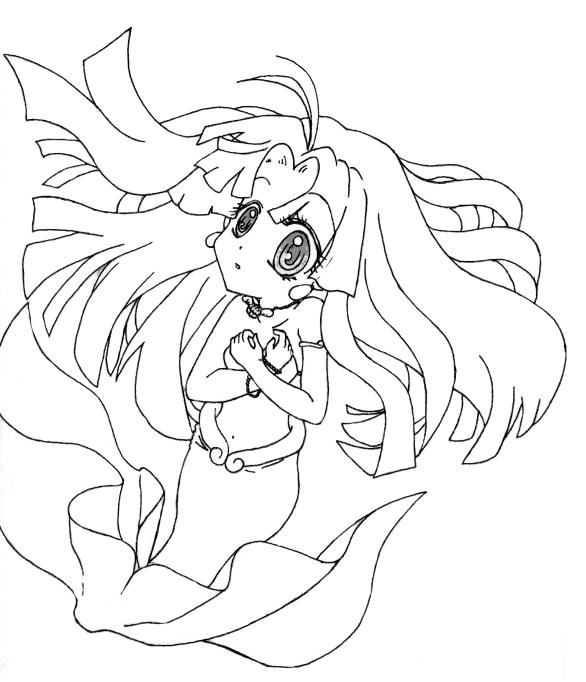 mermaid melody coloring book pages - photo#24