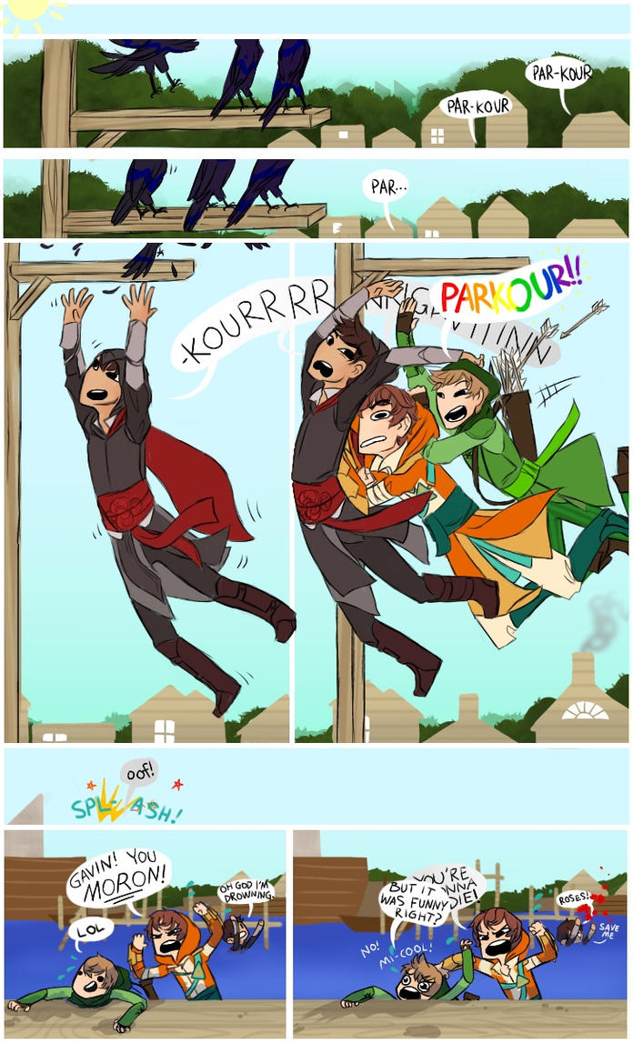 Achievement Hunter Assassins: Parkour by AlmostMyself on ... Achievement Hunter Comic Poster