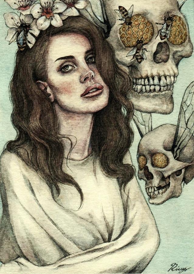 Psychedelic Lana Del Rey by Tolmachov