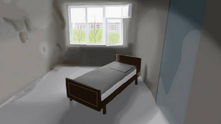 Abandoned Room Digital Painting by FacultyManBruce