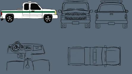 Work Truck 2D Turn-Arounds