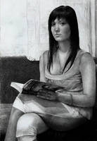 Woman with a book