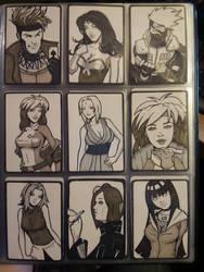 DOJ-CON ACEO cards 1-9 by SavantGuarde