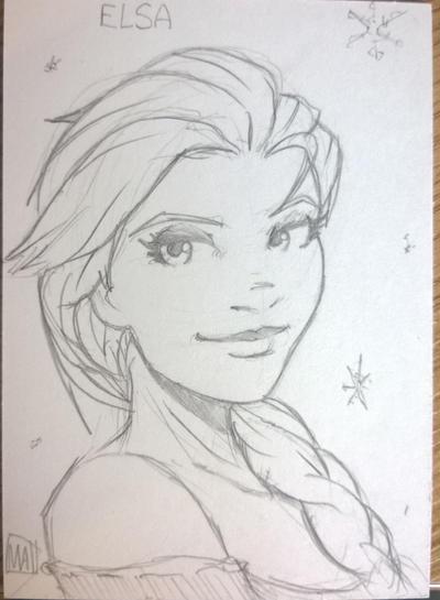 Elsa from Frozen by SavantGuarde