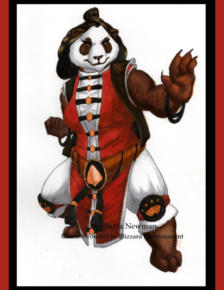 Female Pandaren Concept by VenneccaBlind
