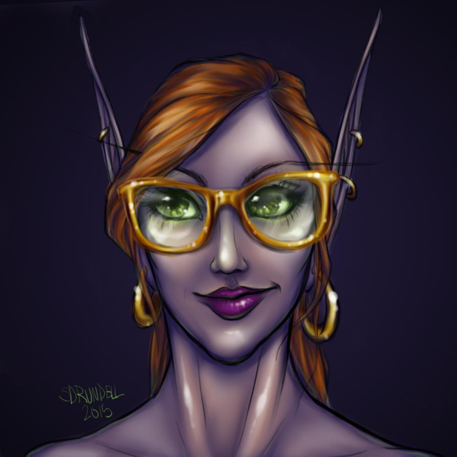 Hipster Elf by VenneccaBlind